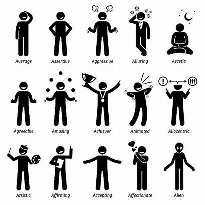 Stick Figures Character Traits Clipart Neutral Icons