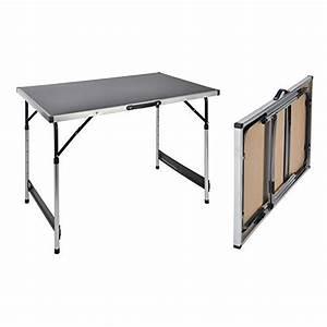 Table Pliante De Camping : haushalt international table de camping pliante hauteur r glable 1 ~ Melissatoandfro.com Idées de Décoration