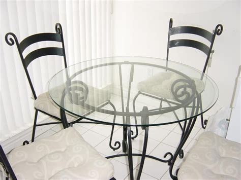 Pier 1 Dining Room Set Wrought Iron Glass Table 4 Chairs
