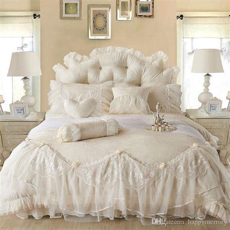 what is a european comforter light white jacquard silk princess bedding set silk lace