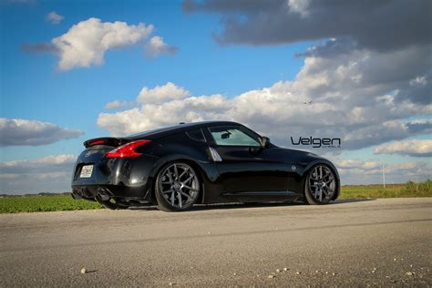 black nissan 370z velgen wheels
