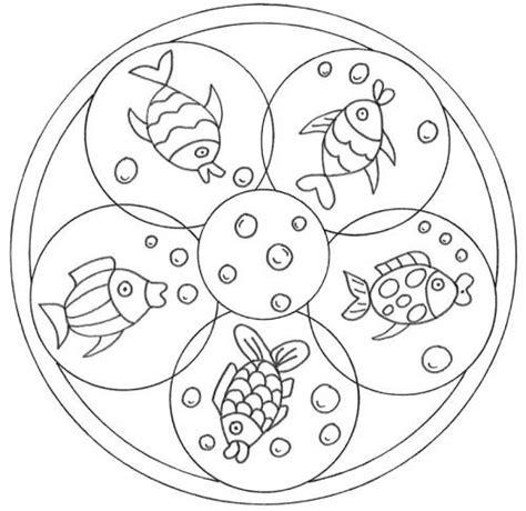 mandalas für kinder zum ausdrucken kostenlose malvorlage mandalas mandala mit fischen zum ausmalen
