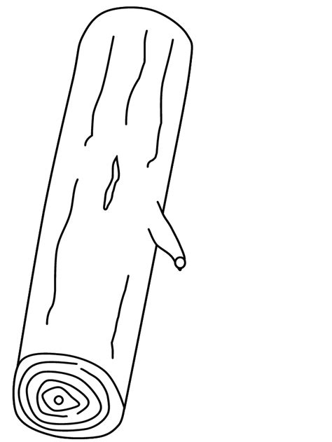 Printable Trees # Log Coloring Pages - Coloringpagebook.com