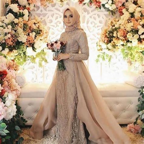 model kebaya modern brokat muslim simple  kumpulan contoh terlengkap