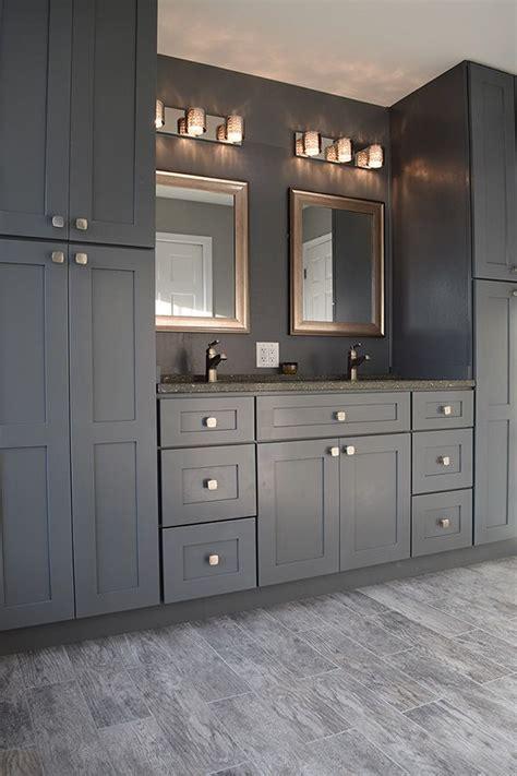 pin  nova design build llc  gray master bathroom