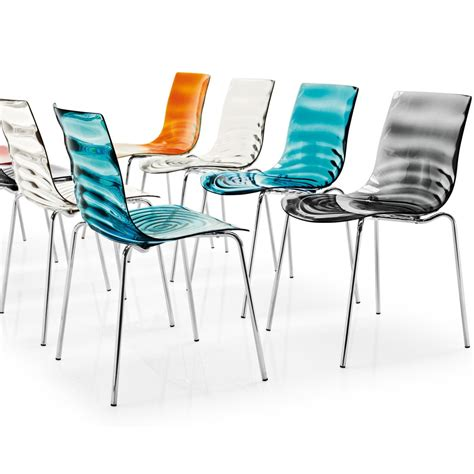 chaise de couleur l 39 eau transparent chair by calligaris arredaclick