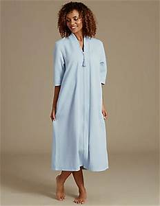 quilted zip through dressing gown With robe de chambre fermeture eclair