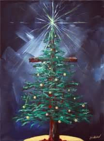 Christmas Cross Paintings On Canvas