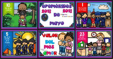 Efemérides mes de Mayo 2018 – Imagenes Educativas