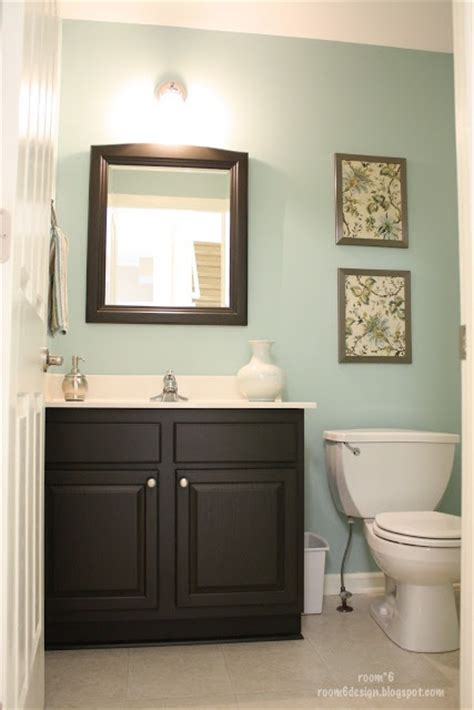 What Color To Paint Bathroom Cabinets by Paint Is Valspar Glass Tile Our Bathroom Cabinets Are