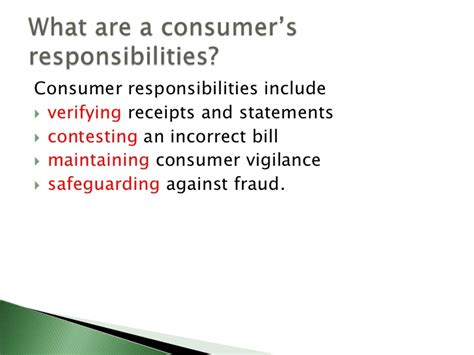 consumer financial protection bureau consumer rights and responsibilities