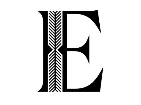 Font Letter E And &