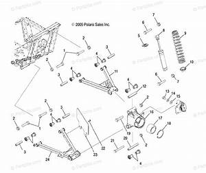 Polaris Side By Side 2006 Oem Parts Diagram For Suspension  Rear R06rd50ab  Ac