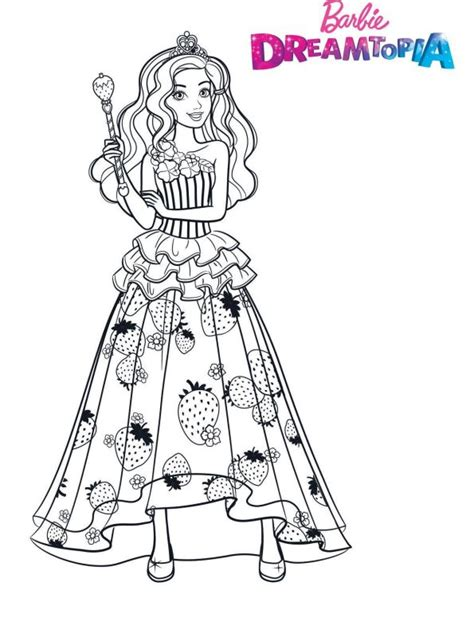 kids  funcom coloring page barbie dreamtopia barbie candy princess
