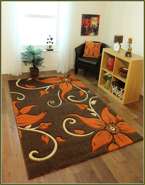 Burnt Orange And Brown Bathroom Rugs by Burnt Orange And Chocolate Area Rugs Home Design Ideas