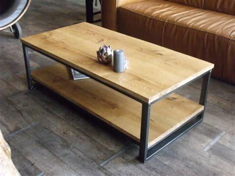 table basse industrielle double plateau le bois chez vous