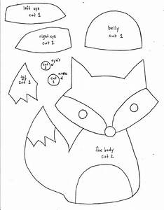 printable fox pattern fox softie pattern templates With template of a fox