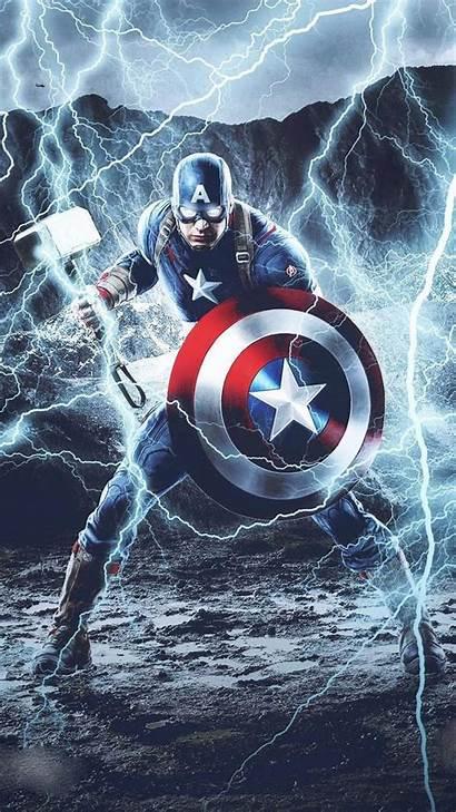 Captain America Mjolnir Iphone Thunder Wallpapers Nature
