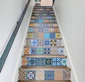 Avec Quoi Recouvrir Un Escalier En Carrelage : 1001 techniques et id es pour relooker un escalier moindre co t d co ~ Melissatoandfro.com Idées de Décoration
