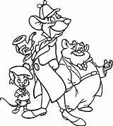 Detective Mouse Coloring Pages Basil Olivia Disney Disneyclips Printable Cartoon Wecoloringpage Dawson Coloriage Sheets Printables Dessins Dessin Le Enregistree Depuis sketch template