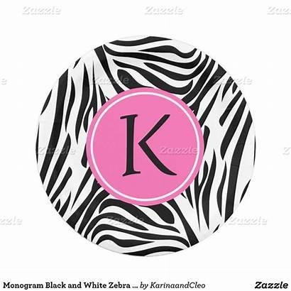 Paper Zebra Monogram Plate