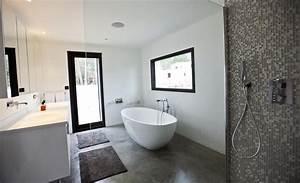 Beton Ciré Sol Salle De Bain : choisir du b ton dans la salle de bain ~ Preciouscoupons.com Idées de Décoration