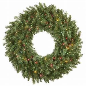 One String Of Lights Out On Prelit Tree Artificial Christmas Wreaths Brighton Fir Prelit