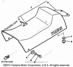 Yamaha Snowmobile 1986 Oem Parts Diagram For Seat