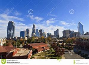 Charlotte Skyline Editorial Photography
