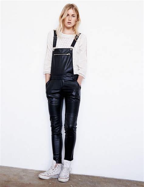 simili leather dungaree fashionbattle jennyfer