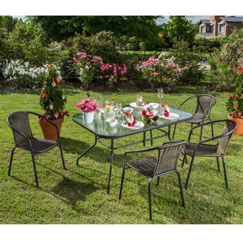 set de mesa silla de hierro exterior jardin juego mueble