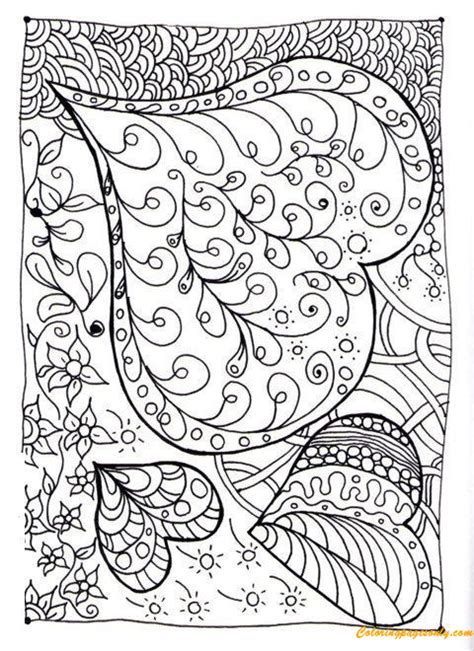 hard heart patterns coloring page  coloring pages