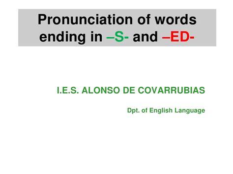 Pronunciation S Ed