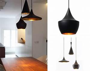 Suspension Noir Et Or : luminaire design interieur luminaires contemporains design triloc ~ Teatrodelosmanantiales.com Idées de Décoration