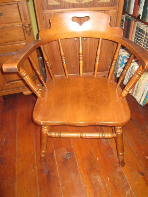 Indiana Tell City Maple Captain's Chair Early American