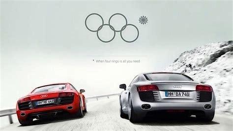 audi r8 ads olympische audi werbung klonblog