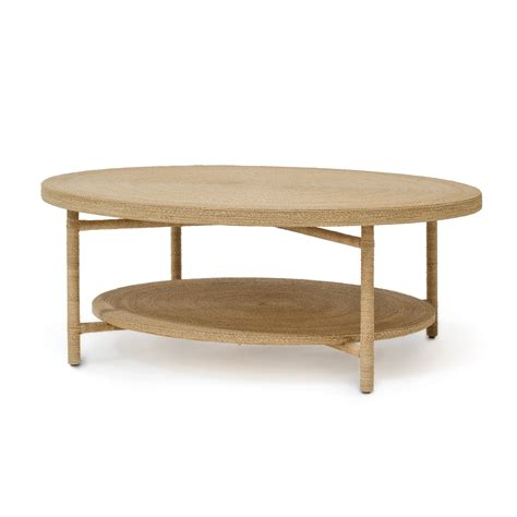 round coffee table with shelf seagrass coffee table decofurnish