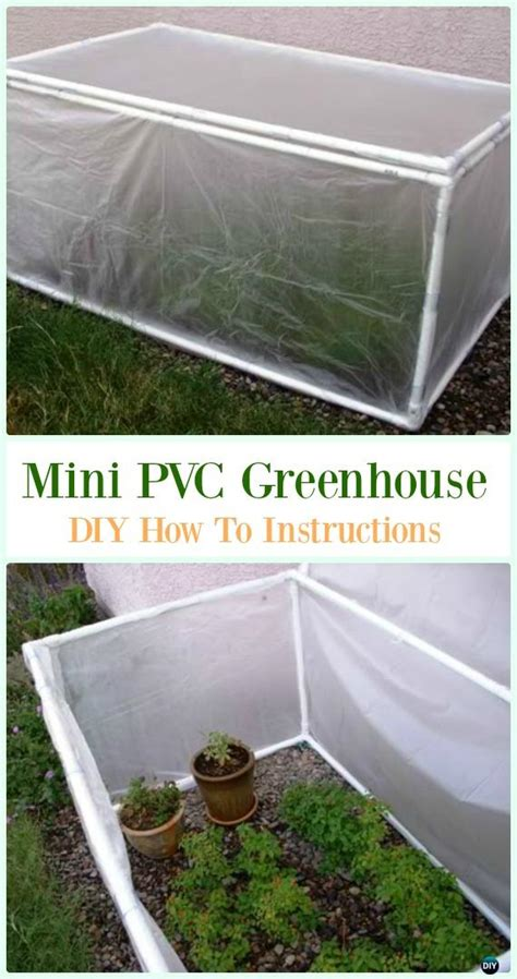 Greenhouses made with pvc pipes. DIY PVC Garden Projects