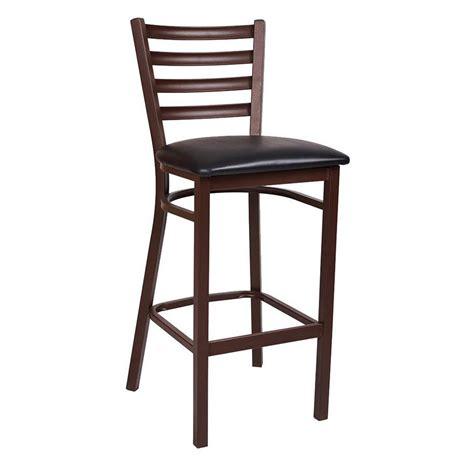 bar stool industrial ladder back brown metal bar stool