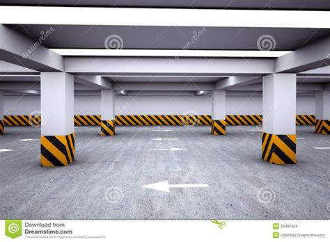 empty underground parking area stock illustration