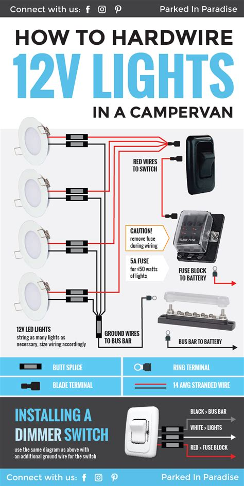 12 Volt Light Wiring Diagram by How To Wire 12 Volt Led Lights In Your Cer
