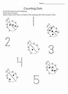 ladybug math free worksheets for kıds (8) « Preschool and