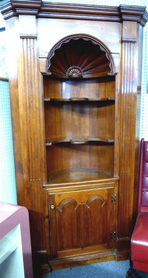 antique corner cupboard wcarved shell  oval office