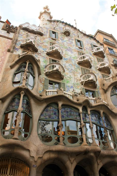 Barcelona Spain Antoni Gaudi Architecture Tourist Guide