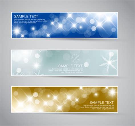 shiny christmas style banner design vector