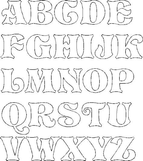 fancy bubble letters alphabet  paper trail