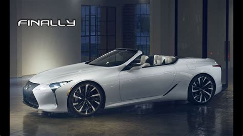 lexus lc  convertible debut   time