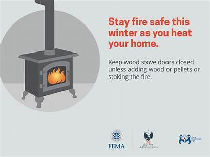 Safety Winter Fire Animated Fema Outreach Stove