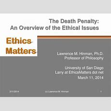 Ppt  The Death Penalty  An Overview Of The Ethical Issues Powerpoint Presentation Id246262