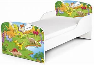 Kinderbett Matratze 140x70 : kinderbett 140x70 mit matratze motiv dinosaurier ~ Frokenaadalensverden.com Haus und Dekorationen